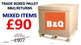 + VAT Grade U Trade Pallet Quantites Of B & Q Returns - Mixed - Retail Value £907.90