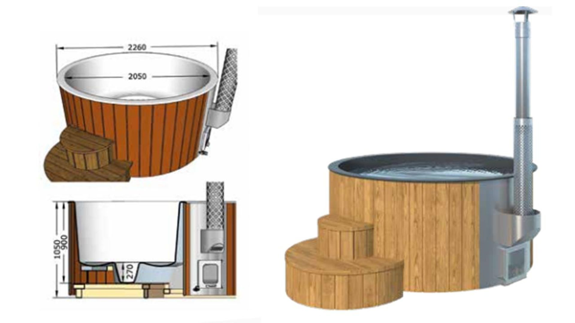 + VAT Brand New Deluxe 220 Hot Tub - 5/6 Person - 105cm Tall - 226cm Diamter - 19mm Thickness - - Image 2 of 2
