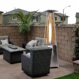 + VAT Brand New Chelsea Garden Company Stainless Steel Gas Patio Heater With Cover - Item is