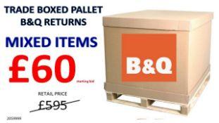 + VAT Grade U Trade Pallet Quantites Of B & Q Returns - Mixed - Retail Value £595.20