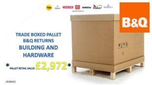 + VAT Grade U Trade Pallet Quantites Of B & Q Returns - Building And Hardware - Retail Value £2972