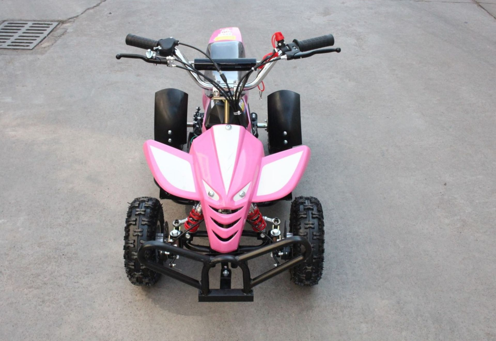 + VAT Brand New 50cc Mini Quad Bike FRM - Colours May Vary - Picture May Vary From Actual Item - Image 4 of 9