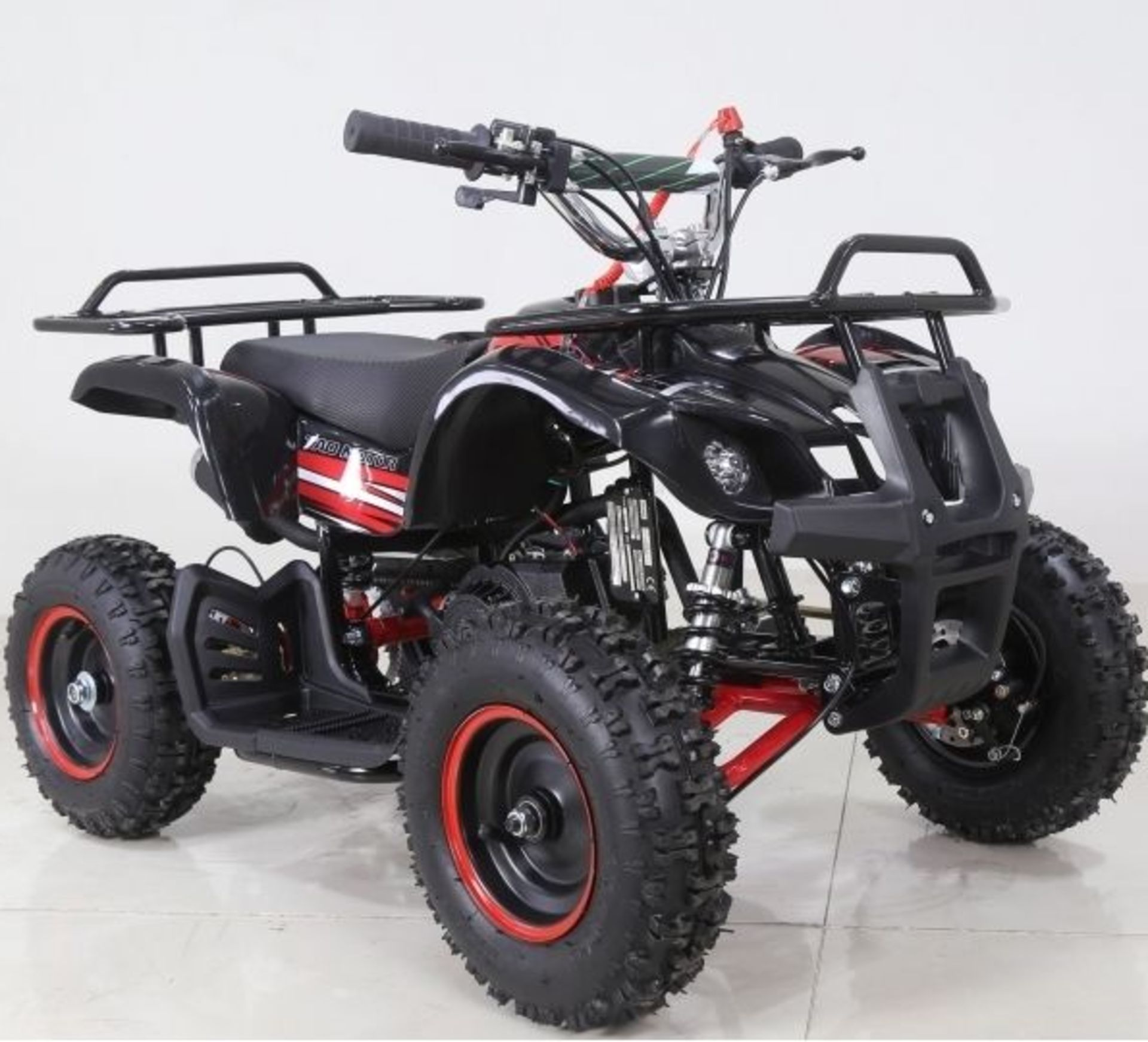 + VAT Brand New 49cc Hawk Mini Quad Bike - Colours May Vary - Full Front And Rear Suspension - Disk - Image 2 of 3