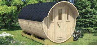 + VAT Brand New Spruce Camping Barrel 330 - 230 x 300 - Glass Window Door - Single Rear Window -