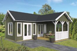 + VAT Brand New 19.15m Sq Spruce Karl Garden House - 50mm Thickness - 351 x 620 x 800cm - Item Is