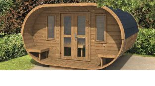+ VAT Brand New Camping Oval 360 - Spruce - 220 x 360 x 357cm - 28/42mm Thickness - Pallet