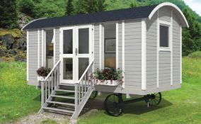 + VAT Brand New 8.10m Sq Spruce Shepard Hut Modern S Garden House - 240 x 360 x 240cm - 19mm