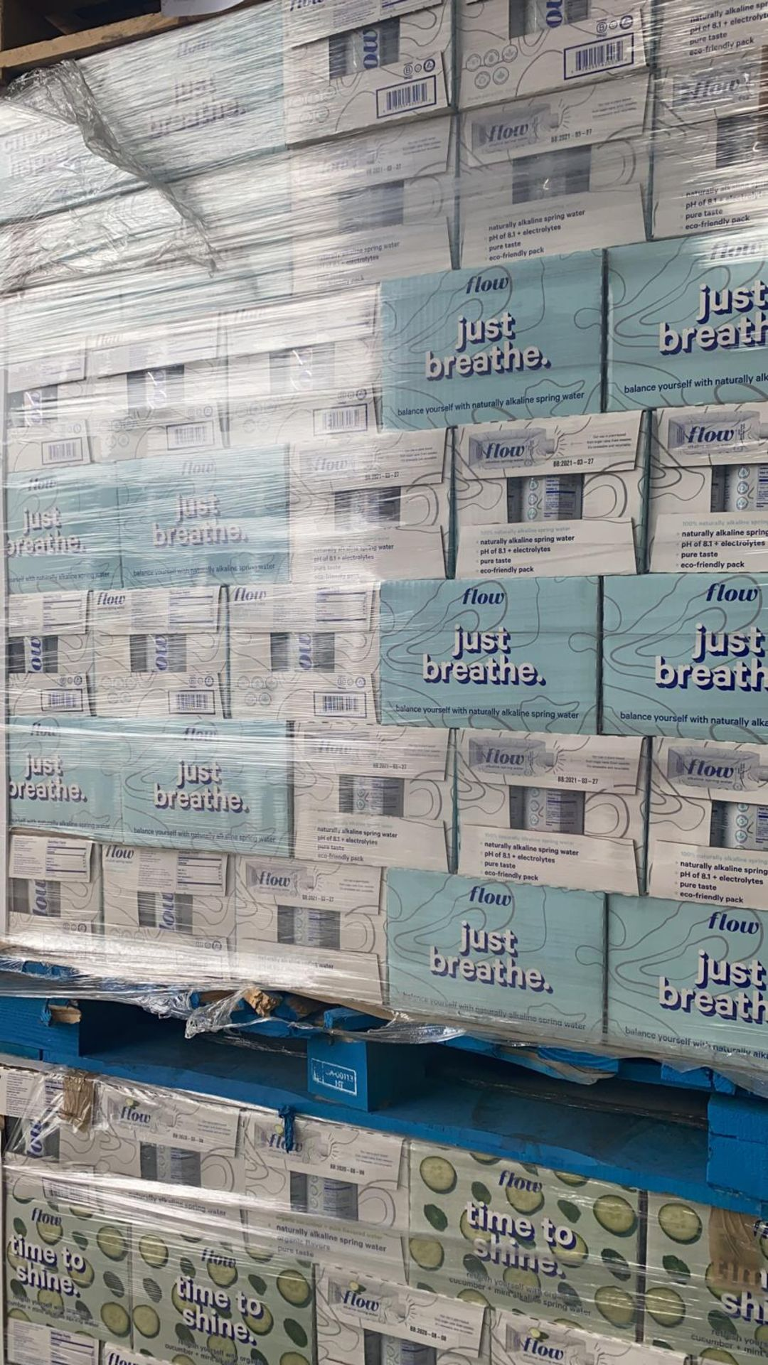 + VAT Pallet Of 112 Cases Of Flow Akaline Spring Water - Ph8.1 - Eco Friendly Pack - BBE 03 2021 - Image 2 of 5