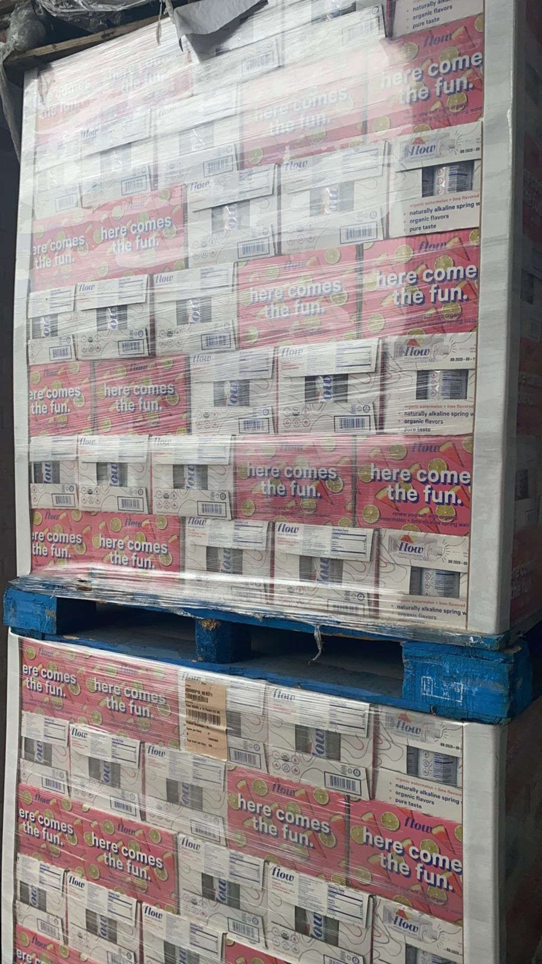 + VAT Pallet Of 112 Cases Of Flow Akaline Spring Water - Ph8.1 - Eco Friendly Pack - BBE 03 2021 - Image 4 of 5