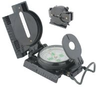 + VAT Brand New Aluminium Sighting Compass In Case