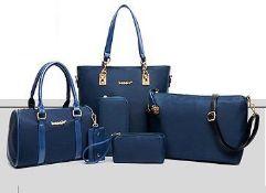 No VAT Brand New Blue Mei&ge Fashion Six Piece Bag Set