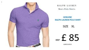 + VAT Brand New Ralph Lauren Custom-Fit Small Pony Polo Shirt - Spring Lilac Size XL - Ribbed Polo