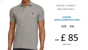 + VAT Brand New Ralph Lauren Custom-Fit Small Pony Polo Shirt - Andover Heather - Size XXL - Ribbed