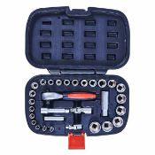+ VAT Brand New 30 Piece 1/4 Inch & 3/8 Inch Drive Socket Set