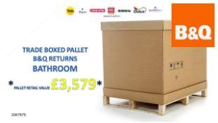 + VAT Grade U Trade Pallet Quantites Of B & Q Returns - Bathroom - Retail Value £3579