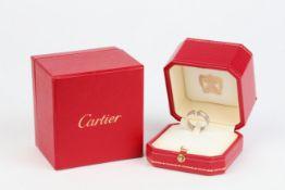 No VAT Cartier 18k White Gold C De Cartier Ring - Comes With Box