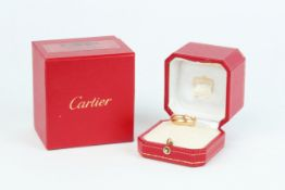 No VAT Cartier Tri Gold Trinity Ring With 18k Yellow Gold, White Gold And Rose Gold