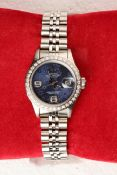 + VAT Ladies Rolex DateJust Watch With Diamond Surround Bezel - Stainless Steel And Yellow Gold