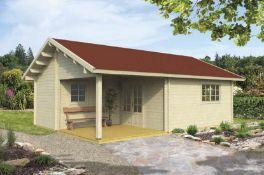 + VAT Brand New 42.60m Sq Spruce Mona Garden House - 70mm Thickness - 344 x 550 x 775cm - Item Is