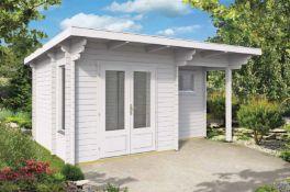 + VAT Brand New 11.50m Sq Spruce Ane Sauna - 70mm - 249 x 470 x 320cm - Pallet Dimensions 600 x 120