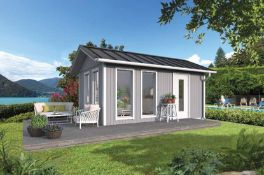 + VAT Brand New 19.37m Sq Spruce Kasja Garden House - 278 x 573 x 337cm - Item is Available Approx