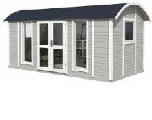 + VAT Brand New 10.90m Sq Spruce Reading Room Garden House - 240 x 480 x 240cm - 19mm Thickness -