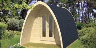 + VAT Brand New 9.40m Sq Spruce Camping Pod 400 - 233 x 400 x 240cm - 28/42mm Thickness - Pallet
