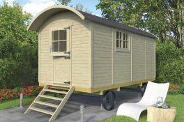 + VAT Brand New 10.90m Sq Spruce Shepard Hut Traditional Garden House - 245 x 480 x 240cm - 19mm