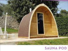+ VAT Brand New Sauna Pod - 42mm Timber - 232 x 300 x 240cm - Pallet Dimensions 300 x 120 x 120cm -
