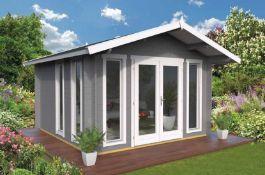 + VAT Brand New 15.10m Sq Adele Spruce Garden House - 40mm Thickness - 268 x 410 x 370cm - Pallet