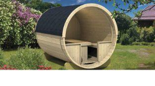 + VAT Brand New Dining Barrel - Spruce - 205 x 240 - 28/42mm - Pallet Dimensions 240 x 120 x 80cm -