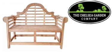 + VAT Brand New Chelsea Garden Company Marlborough Bench - Made From Solid Teak - Elegant And
