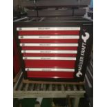 + VAT Brand New Locking Garage Tool Cabinet With Six Drawers And Side Door On Lockable Casters -