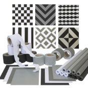 + VAT Grade A EDUCraft Monochrome Wall Display Pack-Border Rolls-Assorted paper