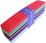 + VAT Grade A A Lot Of Eight Packs Of 25 50 x 300cm Various Colour repe Paper