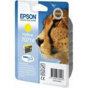 + VAT Grade A A Lot Of Three Epson Cyan T0712 & Yellow T0714 Epson Stylus Stylus Cartridges