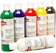 + VAT Grade A Box Containing Sixteen 300ml Bottles Scola Fabric Paint