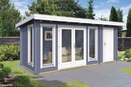 + VAT Brand New 10.50m Sq Spruce Milford Garden House - 40mm Thickness - 220 x 528 x 288cm - Pallet