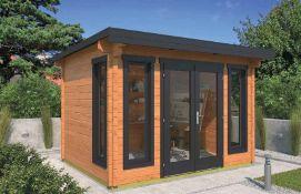 + VAT Brand New 8.66m Sq Spruce Alex Garden House - 50mm Thickness - 227 x 333 x 260cm - Item is