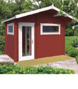 + VAT Brand New 7.82m Sq Spruce Timo Sauna 50mm Thickness - 280 x 340 x 230cm - Insulated Roof -