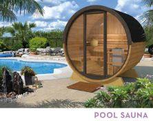 + VAT Brand New Pool Sauna 28/42mm Timber - 205 x 205 x 160cm - Pallet Dimensions 200 x 120 x