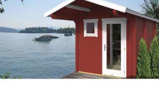 + VAT Brand New 9.40m Sq Spruce Eero Sauna 70mm Thickness - 256 x 244 x 387cm - Including Sauna