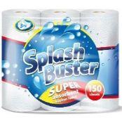 + VAT Brand New 24 Packs Of Splash Buster super absorbent 3-Ply Kitchen Towels- 8 Packs Of 3