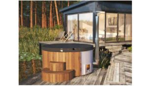 + VAT Brand New Deluxe 220 Hot Tub - 5/6 Person - 105cm Tall - 226cm Diamter - 19mm Thickness -