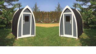 + VAT Brand New 2.6m Sq Spruce Toilet Pod - 233 x 153 x 170cm - Pallet Dimensions 175 x 120 x