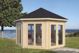 Brand New 17m Sq Spruce Modern Pavilion