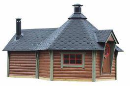 Brand New Spruce BBQ Hut 9m Sq x 4m Sq