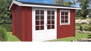 + VAT Brand New 11.20m Sq Spruce York Garden House - 40mm Thickness - 244 x 380 x 296cm - Pallet
