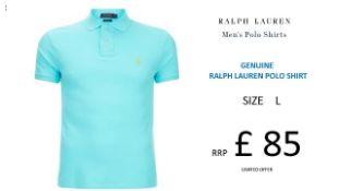 + VAT Brand New Ralph Lauren Custom-Fit Small Pony Polo Shirt - Hammond Blue - Size L - Ribbed Polo