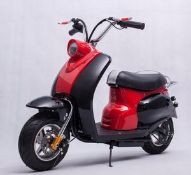 + VAT Brand New Electric Vespa Style Scooter - 250W Motor - 24V 12a Battery - 6.5 Inch Tyres -